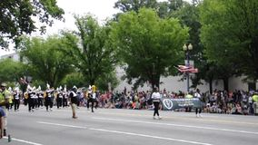 Washington DC, am 4. Juli 2017: Die Parade für die Parade am 4. Juli von Washington District von Kolumbien USA stock footage