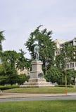 Washington DC Juli 4th 2017: Daniel Webster Statue från centrum av Washington District av Columbia USA Arkivfoton