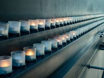 Candles at Hall of Remembrance at United States Holocaust Museumrance stock photography