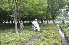 Washington DC,July 5th: Korean War Memorial from Washington District of Columbia USA Royalty Free Stock Photography