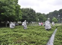 Washington DC,July 5th: Korean War Memorial from Washington District of Columbia USA Royalty Free Stock Image