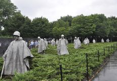 Washington DC,July 5th: Korean War Memorial from Washington District of Columbia USA Stock Images