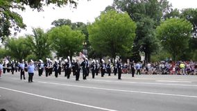 Washington DC, July 4th 2017: The Parade for the 4th July from Washington District of Columbia USA stock video footage