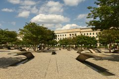 Free Washington, DC - June 01, 2018: The Pentagon Memorial Features 1 Royalty Free Stock Image - 119676826