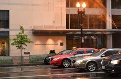 Washington, DC - June 04, 2018: International Monetary Fund, IMF. Headquarters 2 Building HQ2 in DC royalty free stock photos