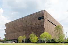Washington DC - June 12, 2017. National Museum of African American History and Culture. National Museum of African American History and Culture in Washington DC royalty free stock photo