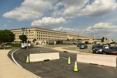 Washington DC - Juni 01, 2018: Säkerhetsbarriärer framme av Pent Royaltyfri Fotografi