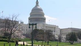 Washington DC Kapitałowy budynek W wiosna W połowie strzale zbiory wideo