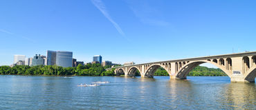 Washington DC - Key Bridge and Rosslyn Stock Photography