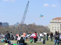 Washington DC kite festival. Washington DC kite flying festival on a sunny spring day Stock Photos