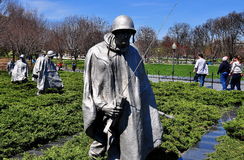 Washington, DC: Korean War Memorial Stock Images