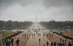 Washington DC Krajowy centrum handlowe na chmurnym dniu zdjęcie royalty free