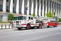 Washington, DC ladder firetruck Royalty Free Stock Image