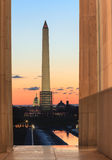 Washington DC Landmark Monuments Sunrise Stock Image