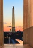 Washington DC Landmark Monuments Sunrise Stock Image