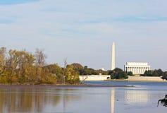 Washington DC landmarks in autumn. Royalty Free Stock Photography