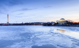 Washington DC Landmarks in Winter Royalty Free Stock Photos