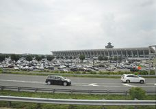 Washington DC, le 5 juillet : Aéroport de Washington District de Colombie Etats-Unis Image stock