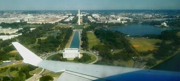 Washington DC. Lincoln memorial Potomac landing stock photos