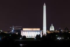 Washington, DC - Lincoln Memorial, Washington Monu Stock Photography