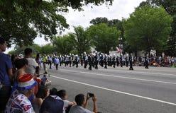 Washington DC, Lipiec 4th 2017: Amerykanie w 4th Lipa paradzie od washington dc w usa Zdjęcia Stock