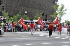 Washington DC, Lipiec 4th 2017: Amerykanie w 4th Lipa paradzie od washington dc w usa Zdjęcie Stock