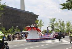 Washington DC, Lipiec 4th 2017: Amerykanie w 4th Lipa paradzie od washington dc w usa Obrazy Stock
