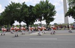 Washington DC, Lipiec 4th 2017: Amerykanie w 4th Lipa paradzie od washington dc w usa Obraz Stock