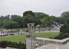 Washington DC, Lipiec 5th: Lincoln Memorial Park po dżdżystego od Waszyngtońskiego dystryktu kolumbii usa Fotografia Royalty Free