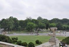 Washington DC, Lipiec 5th: Lincoln Memorial Park po dżdżystego od Waszyngtońskiego dystryktu kolumbii usa Zdjęcie Royalty Free