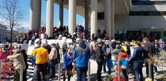 WASHINGTON, DC, LOS E.E.U.U. - 24 DE MARZO DE 2018: Marzo para nuestros protes de las vidas Imagen de archivo libre de regalías