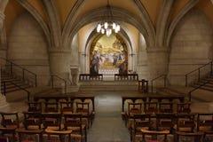 WASHINGTON DC, los E.E.U.U. - 17 de mayo de 2018 - iglesia histórica de la bóveda de Washington Cathedral Fotos de archivo