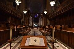 WASHINGTON DC, los E.E.U.U. - 17 de mayo de 2018 - iglesia histórica de la bóveda de Washington Cathedral Imagenes de archivo