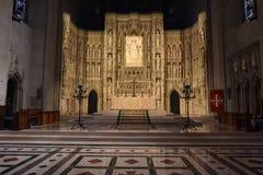 WASHINGTON DC, los E.E.U.U. - 17 de mayo de 2018 - iglesia histórica de la bóveda de Washington Cathedral Imagen de archivo libre de regalías