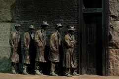 Washington DC, mémorial de Roosevelt, ligne de pain Photographie stock libre de droits