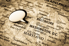 Washington DC map Stock Images