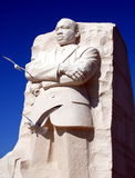 Washington, DC: Martin Luther King, Jr. Memorial. Two seagulls fly past the monumental statue of Dr. Martin Luther King at the newly opened MLK memorial on the Stock Photography