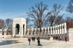 Washington DC memorial to World War two Royalty Free Stock Photos