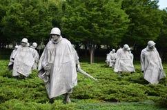 Washington DC, memoriale della Guerra di Corea Fotografia Stock Libera da Diritti