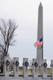 Washington DC, memoriale di WWII e monumento Fotografia Stock