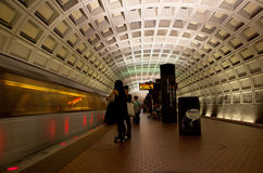Washington DC Metro. The Washington Metro, commonly called Metro, and unofficially Metro-rail, is the rapid transit system in Washington, D.C., United States stock photo