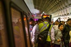 Washington DC Metro disembarking Stock Photos