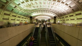 Washington DC Metro Rail / Subway - 4K. Time lapse of the Washington DC metro.  Shot with a professional camera stock video