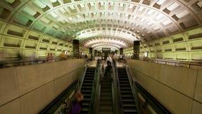 Washington DC Metro Rail / Subway - 4K. Time lapse of the Washington DC metro.  Shot with a professional camera stock video footage