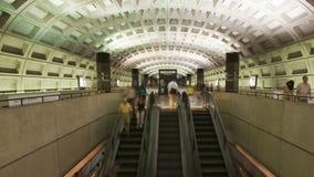Washington DC Metro Rail / Subway. Time lapse of the Washington DC metro.  Shot with a professional camera stock video