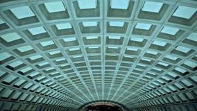 Washington DC metro station concrete ceiling Stock Photos