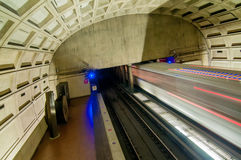 Washington DC Metro Tunnel Royalty Free Stock Photography