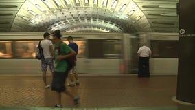 Washington DC Metrorail. Washington DC Metro Rail / Subway stock video footage