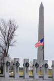 Washington DC, monumento de WWII y monumento Fotografía de archivo