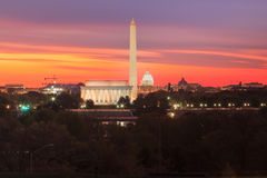 Washington DC Monuments Landmarks Royalty Free Stock Photo